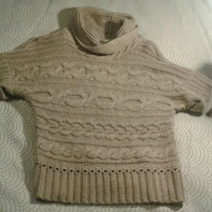 Nine West Cable Knit Short Sleeve Sweater Sz S